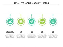 DAST Vs SAST Security Testing Ppt Powerpoint Presentation Professional Show Cpb