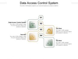 Data Access Control System Ppt Powerpoint Presentation Icon Objects Cpb