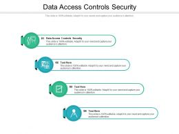 Data Access Controls Security Ppt Powerpoint Presentation Model Example Introduction Cpb
