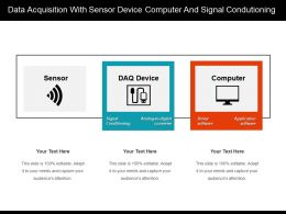 Data Acquisition With Sensor Device Computer And Signal Condutioning