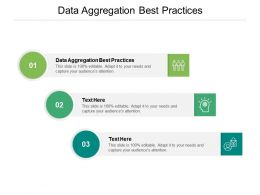 Data Aggregation Best Practices Ppt Powerpoint Presentation Deck Cpb