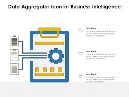 Data Aggregator Icon For Business Intelligence