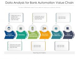 Data Analysis For Bank Automation Value Chain