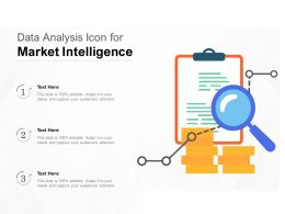 Data Analysis Icon For Market Intelligence
