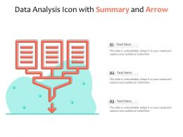 Data Analysis Icon With Summary And Arrow