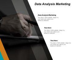 Data Analysis Marketing Ppt Powerpoint Presentation Gallery Graphics Design Cpb