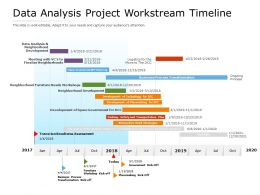 Data Analysis Project Workstream Timeline