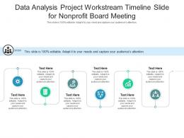 Data Analysis Project Workstream Timeline Slide For Nonprofit Board Meeting Infographic Template