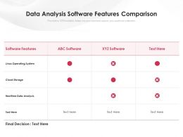 Data Analysis Software Features Comparison