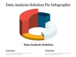 Data Analysis Solution Pie Infographic