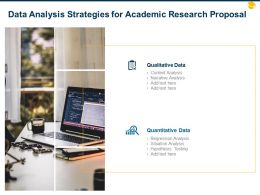 Data Analysis Strategies For Academic Research Proposal Ppt Powerpoint Influencers