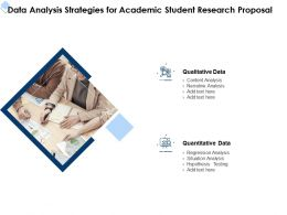Data Analysis Strategies For Academic Student Research Proposal Ppt Powerpoint File