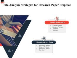 Data Analysis Strategies For Research Paper Proposal Narrative Analysis Ppt Powerpoint Guide