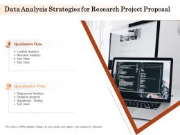Data Analysis Strategies For Research Project Proposal Ppt Powerpoint Infographics