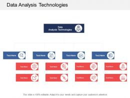 Data Analysis Technologies Ppt Powerpoint Presentation Ideas Infographics Cpb