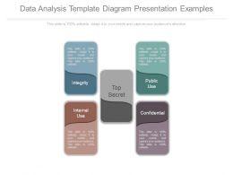 Data Analysis Template Diagram Presentation Examples