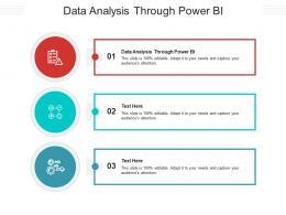Data Analysis Through Power BI Ppt Powerpoint Presentation Infographics Layout Ideas Cpb