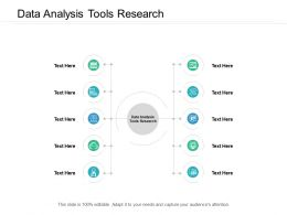 Data Analysis Tools Research Ppt Powerpoint Presentation File Deck Cpb