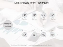 Data Analysis Tools Techniques Ppt Powerpoint Presentation Sample Cpb