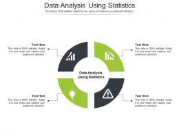 Data Analysis Using Statistics Ppt Powerpoint Presentation Summary Icon Cpb