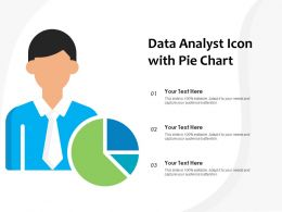 Data Analyst Icon With Pie Chart