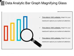 Data Analytic Bar Graph Magnifying Glass