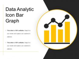 Data Analytic Icon Bar Graph