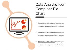 Data Analytic Icon Computer Pie Chart