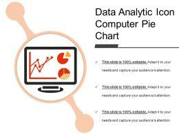 Data Analytic Icon Computer Pie Chart