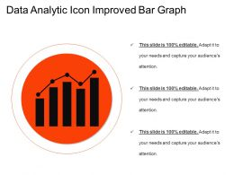 Data Analytic Icon Improved Bar Graph