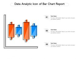 Data Analytic Icon Of Bar Chart Report