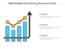 Data Analytic Icon Showing Business Growth