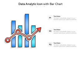 Data Analytic Icon With Bar Chart