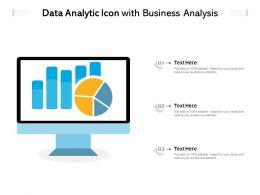 Data Analytic Icon With Business Analysis