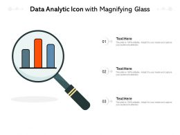 Data Analytic Icon With Magnifying Glass