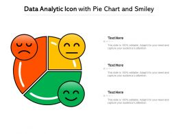 Data Analytic Icon With Pie Chart And Smiley
