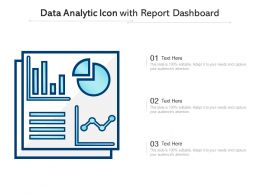 Data Analytic Icon With Report Dashboard