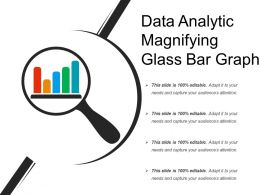 Data Analytic Magnifying Glass Bar Graph