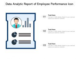 Data Analytic Report Of Employee Performance Icon