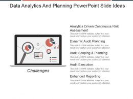 Data Analytics And Planning Powerpoint Slide Ideas
