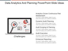 Data Analytics And Planning Powerpoint Slide Ideas