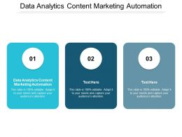 Data Analytics Content Marketing Automation Ppt Powerpoint Presentation Model Graphics Cpb