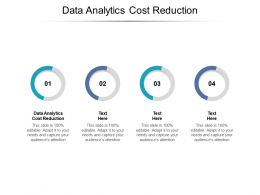 Data Analytics Cost Reduction Ppt Powerpoint Presentation Icon Gridlines Cpb
