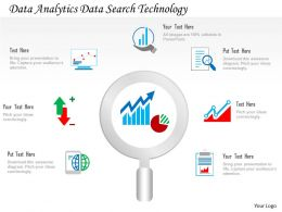 Data Analytics Data Search Technology Ppt Slides