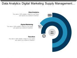 Data Analytics Digital Marketing Supply Management Revenue Management Cpb