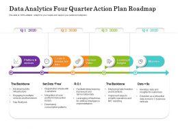 Data Analytics Four Quarter Action Plan Roadmap