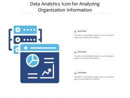 Data Analytics Icon For Analyzing Organization Information