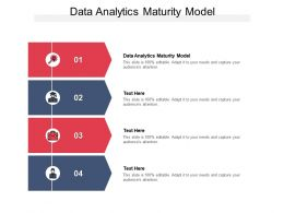 Data Analytics Maturity Model Ppt Powerpoint Presentation Information Cpb