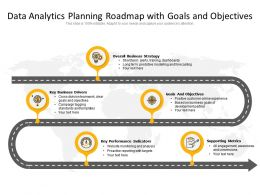 Data Analytics Planning Roadmap With Goals And Objectives
