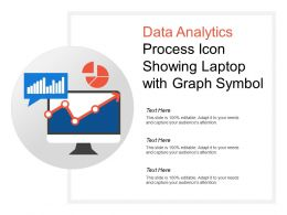 Data Analytics Process Icon Showing Laptop With Graph Symbol